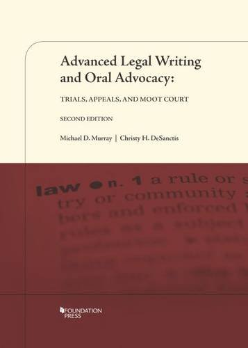 Mooting law library guides at monash university books advanced legal writing and oral advocacy by michael d murray christy hallam desanctis fandeluxe Choice Image
