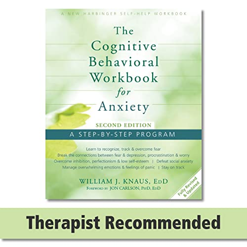 The Cognitive Behavioral Workbook for Anxiety Book Cover Picture