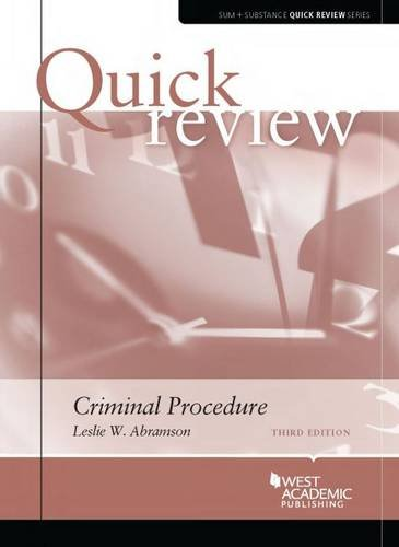 Link to Criminal Procedure (Sum and Substance Quick Review)