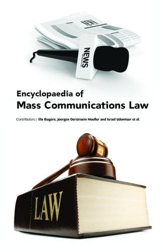 ENCYCLOPAEDIA OF MASS  COMMUNICATIONS LAW, 3 VOL. SET (HB)
