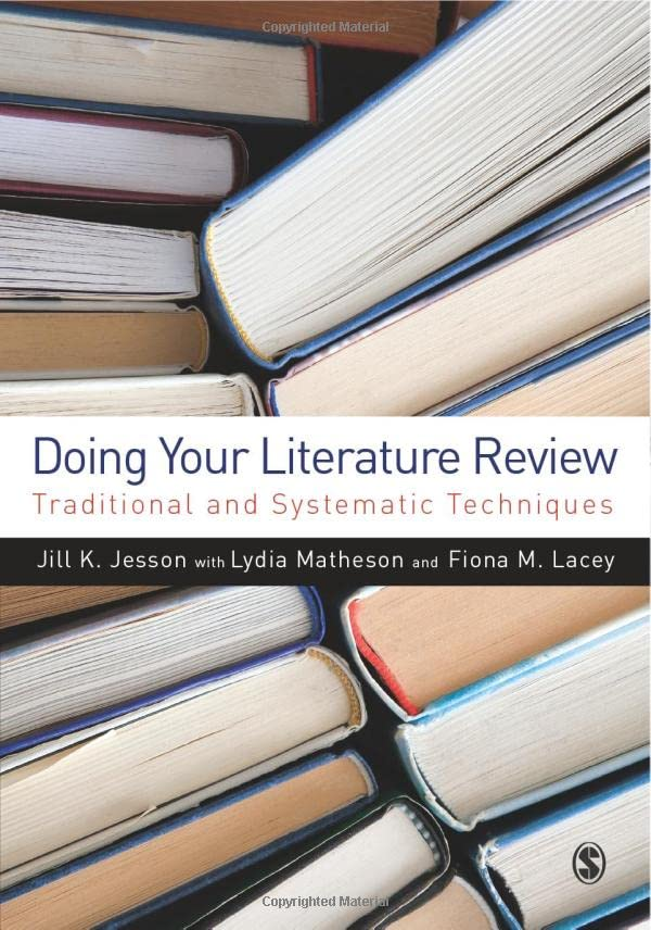 books on systematic literature reviews A guide for writing scholarly articles or reviews for the  1973) systematic reviews are best suitable  for a critical examination of the literature in.