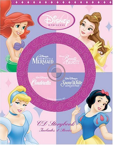 Disney Princess CD Storybook: Disney Princess CD Storybook Beauty And The Beast, The Little Mermaid, Cinderella, Snow White (4-In-1 Disney Audio CD Storybooks)