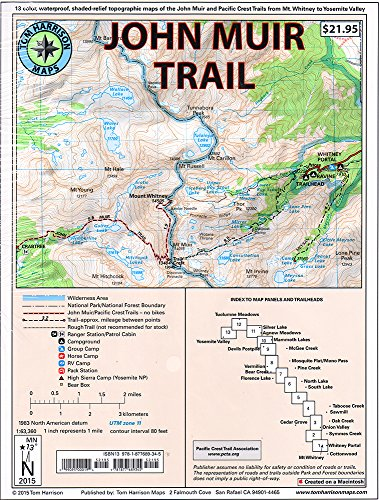 John Muir Trail Map-Pack: Shaded Relief Topo Maps (Tom Harrison Maps) - Tom HarrisonTom Harrison, Tom Harrison