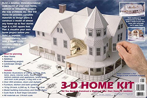 3-D Home Kit: All You Need to Construct a Model of Your Own Home or Addition - Daniel Reif, Dan Reif
