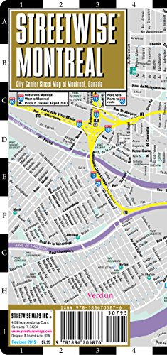 Streetwise Montreal Map - Laminated City Center Street Map of Montreal, Canada - Folding pocket size travel map with metro map - Streetwise Maps