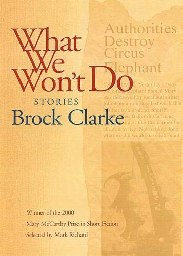 What We Won't Do: Stories, Clarke, Brock