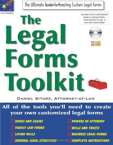 Forms self represented litigant resources libguides at drake the legal forms toolkit the ultimate guide to creating custom legal forms by dan sitarz solutioingenieria Images