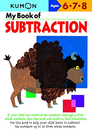 my book of subtraction  kumon