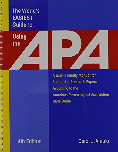 The World's Easiest Guide to Using the APA 4th Edition