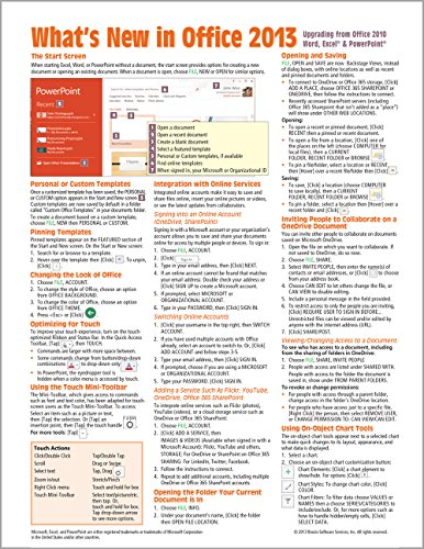What's New in Microsoft Office 2013 (from 2010) Quick Reference Guide (Cheat Sheet of New Features & Instructions - Laminated Guide) - Beezix Inc.Beezix Inc.