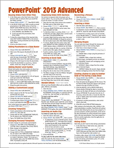 Microsoft PowerPoint 2013 Advanced Quick Reference Guide (Cheat Sheet of Instructions, Tips & Shortcuts - Laminated Card) - Beezix Inc.Beezix Inc.