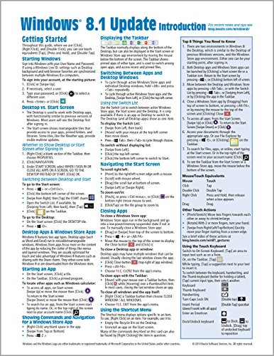 Windows 8.1 Update Quick Reference Guide: Introduction (Cheat Sheet of Instructions, Tips & Shortcuts - Laminated) - Beezix Inc.