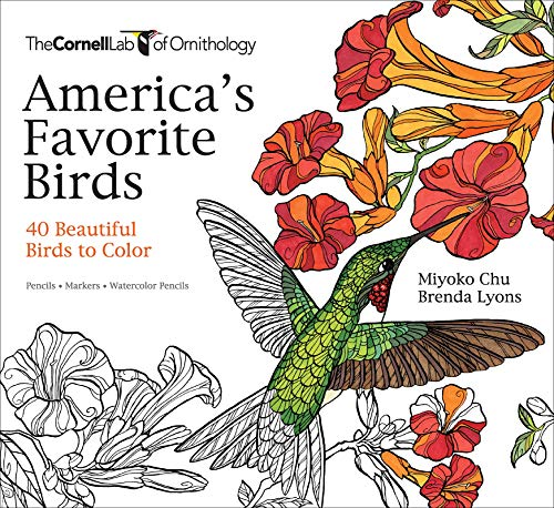 America's Favorite Birds: 40 Beautiful Birds to Color - Myoko ChuBrenda Lyons