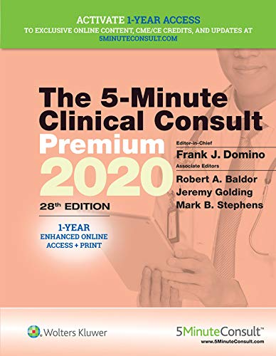 THE 5-MINUTE CLINICAL CONSULT PREMIUM 2020, 28/ED.