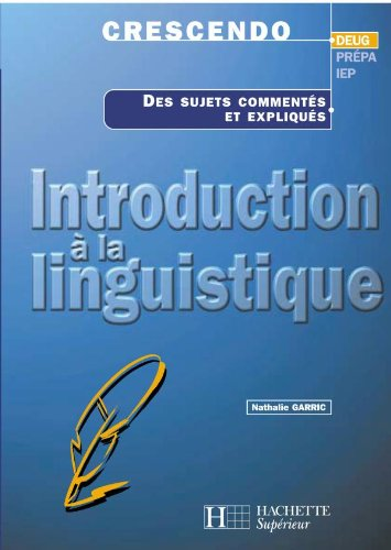 Introduction à la linguistique