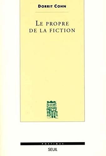 Le Propre de la fiction