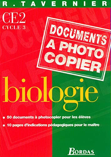 Documents à photocopier : Biologie CE2, cycle 3