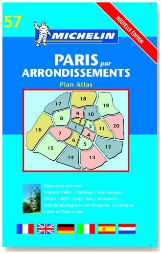 Michelin Paris Par Arrondissements Plan Atlas: Nouvelle Edition