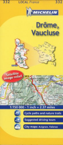 Michelin Map France: Drme, Vaucluse 332
