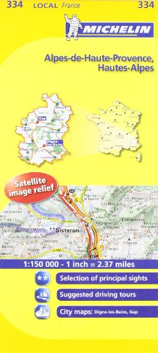 Michelin Map France: Alpes-de-haute-provence, Hautes-alpes 334