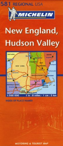 New England, Hudson Valley : 1/500 000