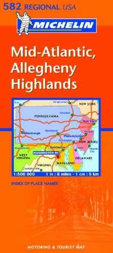 Michelin Map Mid-Atlantic, Allegheny Highlands 582 (Michelin Maps)