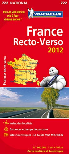 Carte routière 722 France recto-verso