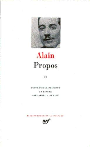 Propos, tome 2