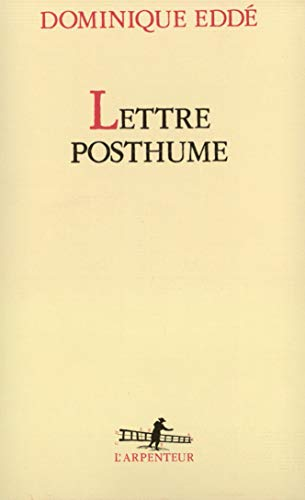 Lettre posthume