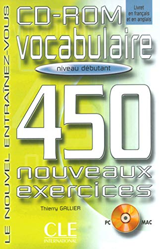 Vocabulaire : 450 exercices, débutant (CD-Rom)