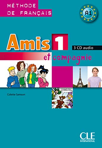 CD COLLECTIF AMIS ET COMPAGNIE NIVEAU 1 METHODE DEFRANCAIS 3 CD AUDIO