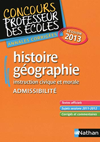 Histoire/Geographie Session 2013 Admissibilite