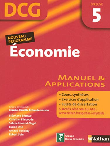 Economie Epreuve 5 - DCG - Manuel et applications