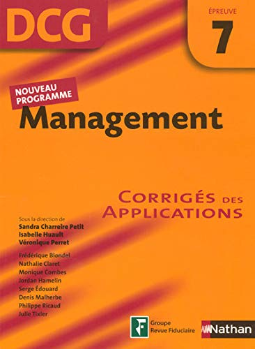 Management Epreuve 7 - DCG - Corrigés des applications
