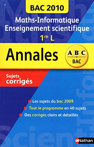 Maths-Informatique 1e L enseignement scientifique