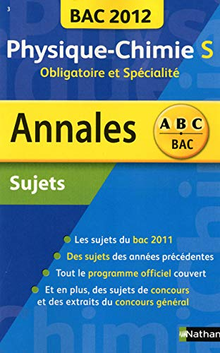 Annales BAC 2012 - Physique-Chimie