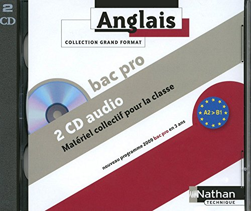Anglais Bac Pro - A2 > B1 -Grand Format- 2 CD Audio 2009
