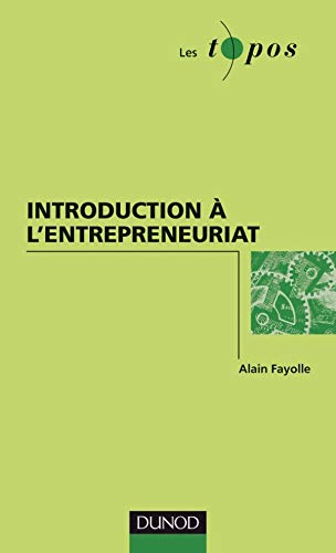 Introduction à l'entrepreneuriat