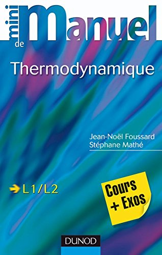 Mini manuel de Thermodynamique