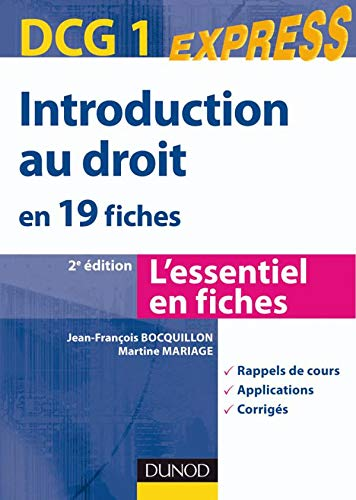 Introduction au droit en 19 fiches