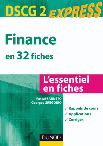Finance DSCG 2 - en 32 fiches