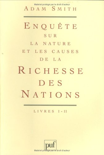 La richesse des nations, coffret de 4 volumes