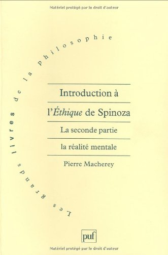 Introduction à l'éthique, de Spinoza
