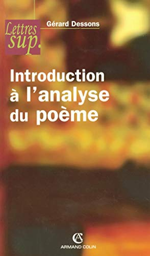 Introduction à l'analyse du poème