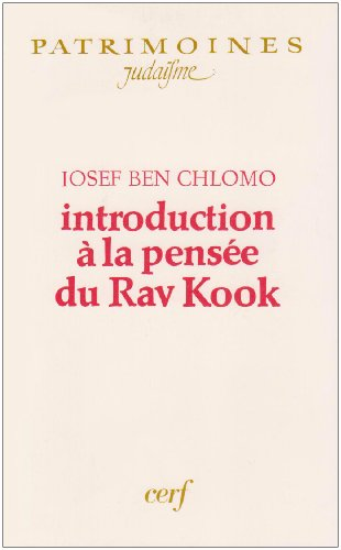 Introduction à la pensée du Rav Kook