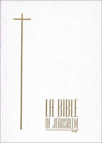 Bible de Jérusalem, édition compacte skivertex blanc et or