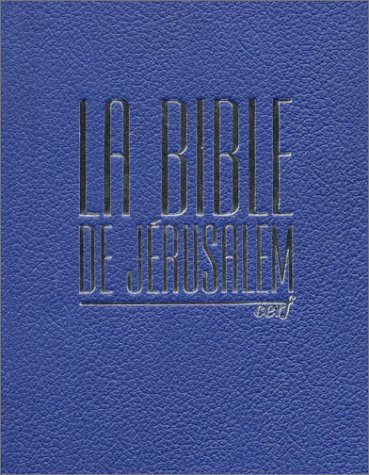 Bible de jerusalem bibliotheque nationale bj bn cuir bleu