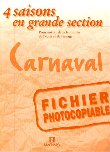 4 Saisons Gs Carnaval Fichier Photocopiable
