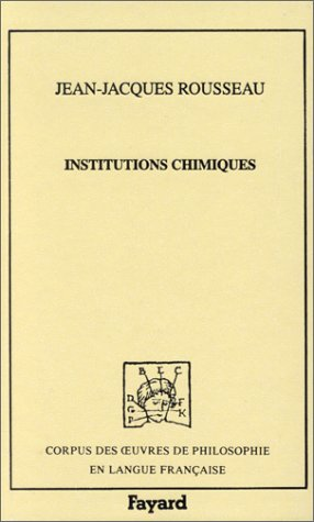 Institutions chimiques