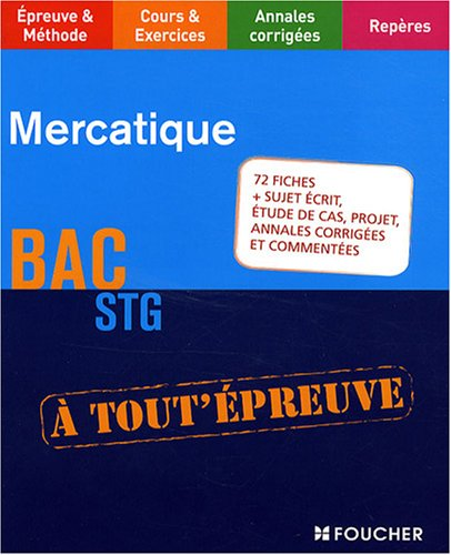 Mercatique Bac STG